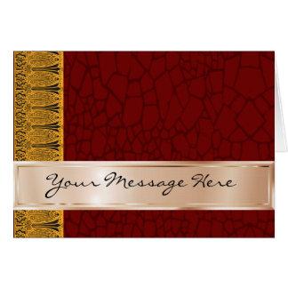 Din ord förkopprar på och rödbrunt med den Deco Hälsningskort