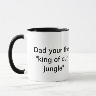 Din pappa kungen av vår djungel mugg