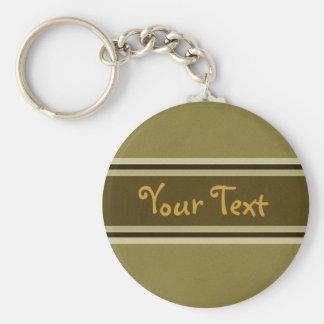 Din text skräddarsy Keychain elegant stil Rund Nyckelring