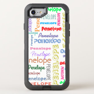 Din typografi för typsnitt för känt ordmoln roliga OtterBox defender iPhone 7 skal