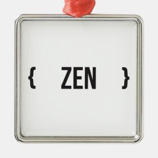 Din Zen - välj bakgrundsfärg Julgransprydnad Metall