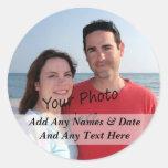 Dina egna foto- och rund klistermärke