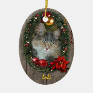 Dina husdjur julgransprydnad keramik