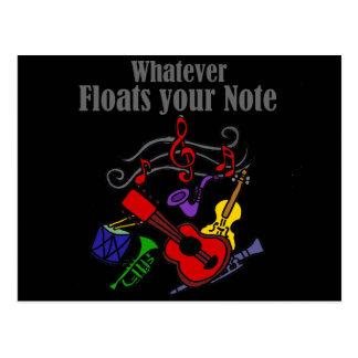 Dina spelar ingen roll flöten noterar design vykort