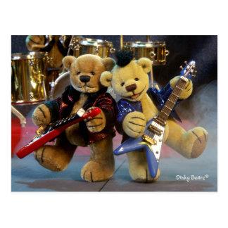Dinky björnar Gitarrduett Vykort