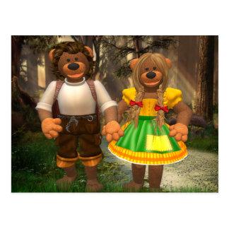 Dinky björnar Hansel och Grethel Vykort