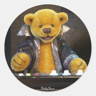Dinky björnar Keyboarder Runt Klistermärke
