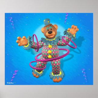 Dinky björnhula som förenar clownen poster