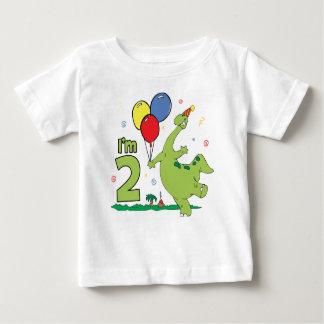 Dino 2nd födelsedag t shirt