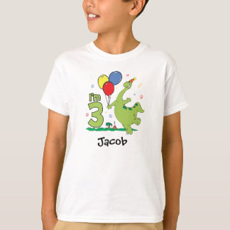 Dino 3rd födelsedag tee shirts