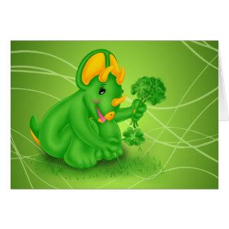 Dino-Buddies™ St Patrick dagkort - Trey™ Hälsningskort