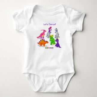 "Dino-Buddies™ T-tröja - ""låt oss dansa"" bodySuiten Tee Shirts"