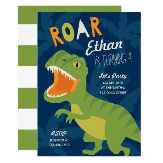 Dino födelsedagsfestinbjudan 12,7 x 17,8 cm inbjudningskort