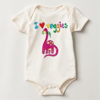 Dino (och bebis) älskar veggies bodies