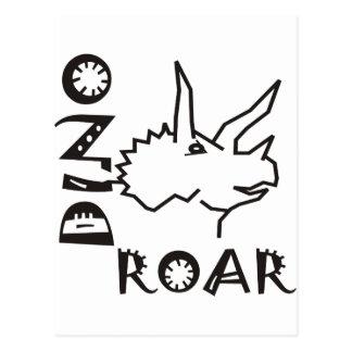 Dino vrålar triceratopsen vykort