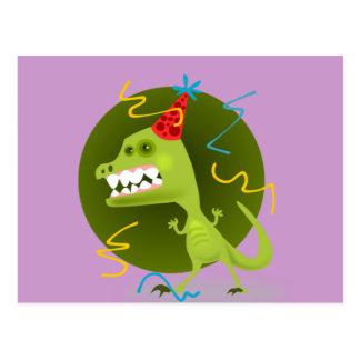 Dinos sten - Dinosaurfödelsedagsfest Vykort