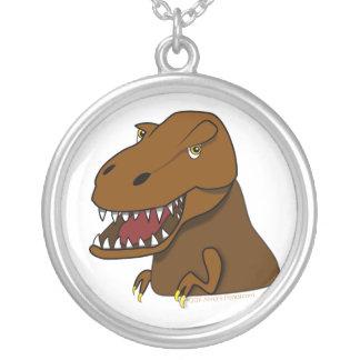 Dinosaur för T-Rex TyrannosaurusRex läskig tecknad Silverpläterat Halsband