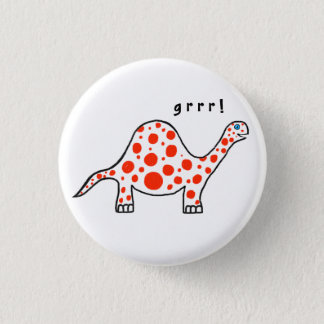 Dinosaur Grrr! Knäppas emblem Mini Knapp Rund 3.2 Cm