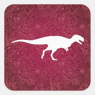 DinosaurCarnivoressymbol Fyrkantigt Klistermärke
