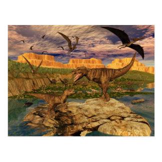 Dinosaurdalvykort Vykort