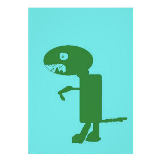 Dinosauren Dino, extra stor affisch, lurar konst Poster
