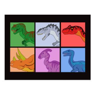 Dinosauren kvadrerar vykort