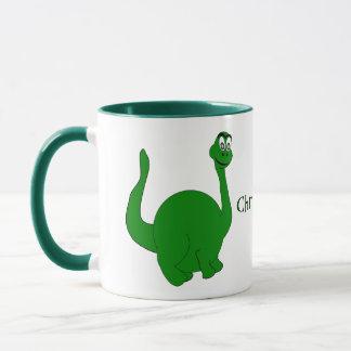 Dinosauren tillfogar precis namn mugg