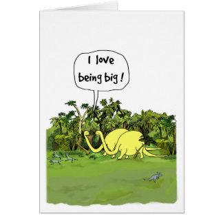Dinosaurfödelsedagkort Hälsningskort