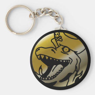 Dinosaurpiratkeychain Rund Nyckelring
