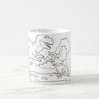 dinosaurs kaffemugg