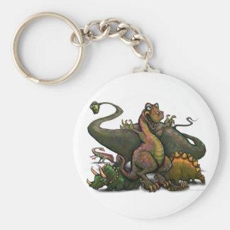 Dinosaurs Rund Nyckelring
