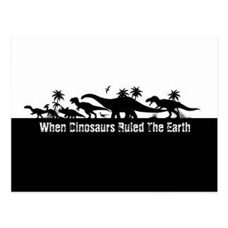 DinosaurSilhouettes Vykort