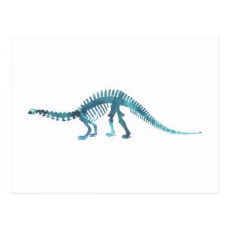 Dinosaurskelett Vykort