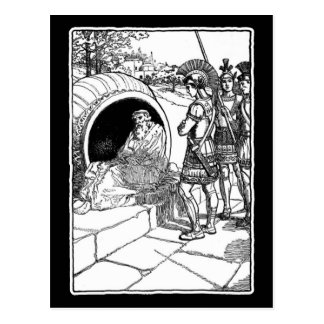 Diogenes av Sinope Vykort