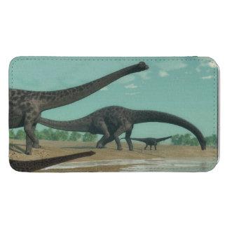 Diplodocusdinosaursflock - 3D framför Mobil Fodral Ficka