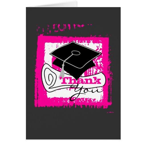 Diplom 3 för studententackkort hälsnings kort