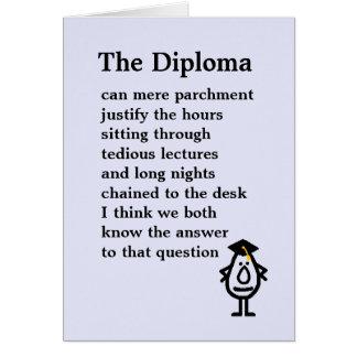 Diplomet Hälsningskort