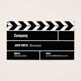 Direktören Clapperboard filmar filmvisitkorten Visitkort