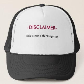 Disclaimer - detta är inte ett tänkande lock truckerkeps