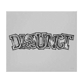 Disjunct Canvastryck