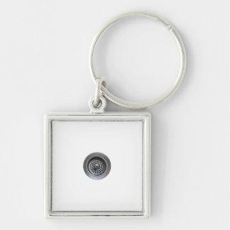 Diskho Fyrkantig Silverfärgad Nyckelring