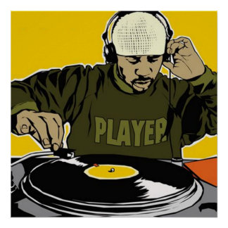 Diskjockeyn DJ poster