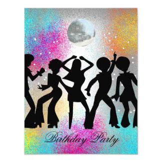 Diskodansfödelsedagsfest inbjudan 1