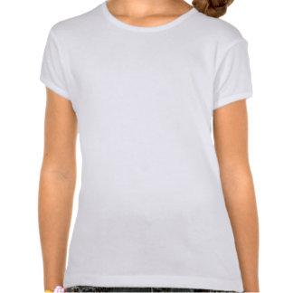 Diskot belägger med tegel inpassad vit för orange  tee shirt