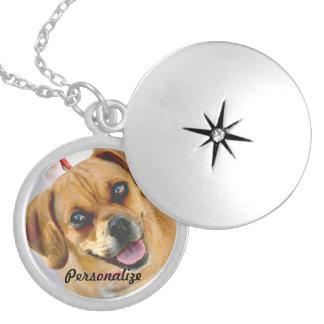 Ditt älsklings- foto eller älska det minnes- halsb halsband med rund berlock