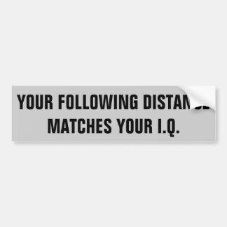 Ditt avstånd matchar efter din IQ Bildekal