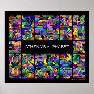Ditt barns alfabet poster
