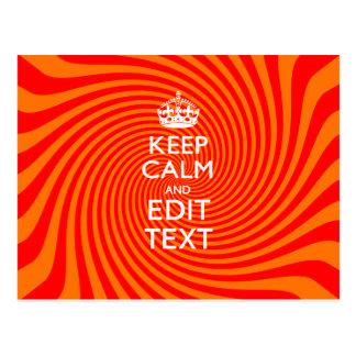Ditt behållalugnordstäv på den vibrerande orangen vykort