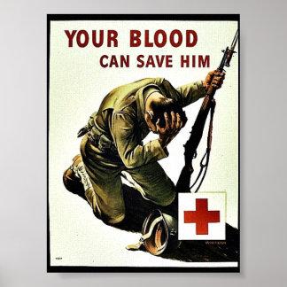 Ditt blod kan spara honom poster