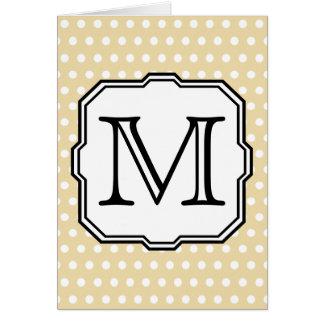 Ditt brev. Beställnings- Monogram. Beige OBS Kort